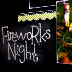 Fireworks night close